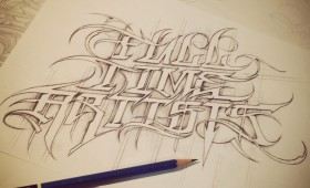 Hand Drawn, Custom Lettering & Artwork.