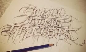 Hand Drawn, Custom Lettering & Artwork.