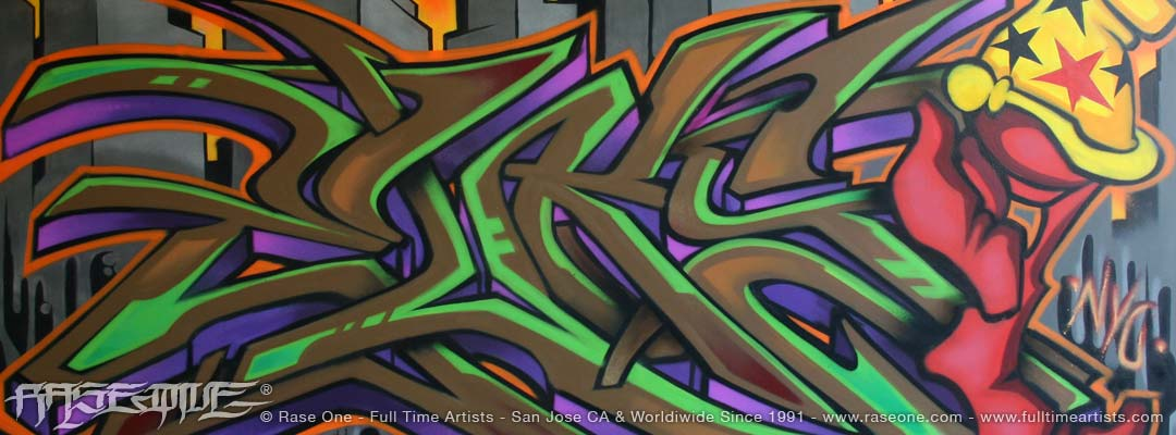 Murals, Canvases & Artwork created in spray paint.