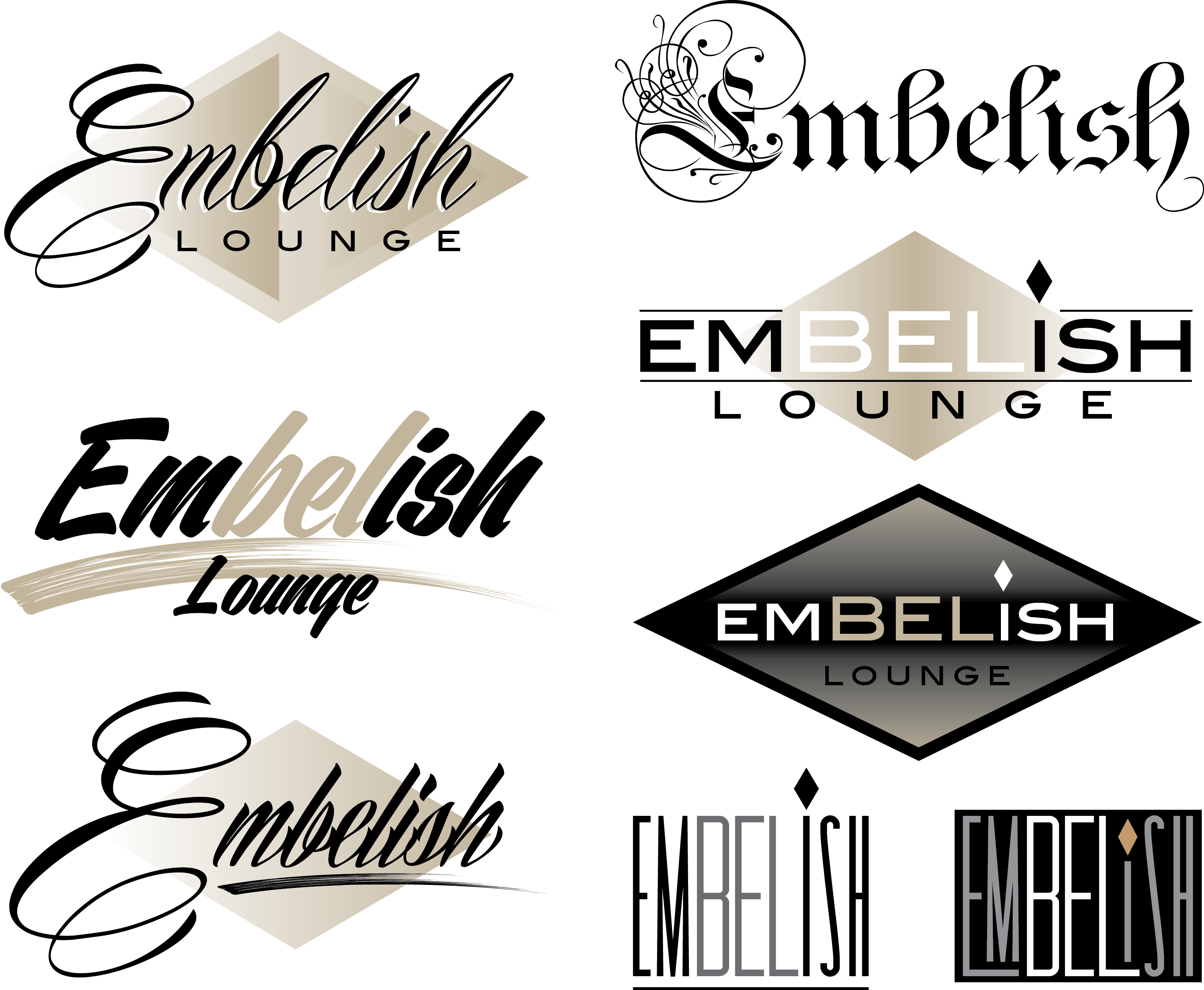 Part of the logo array created for a clients new business.