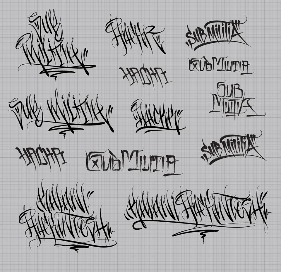 Submilitia handstyles by Raseone.