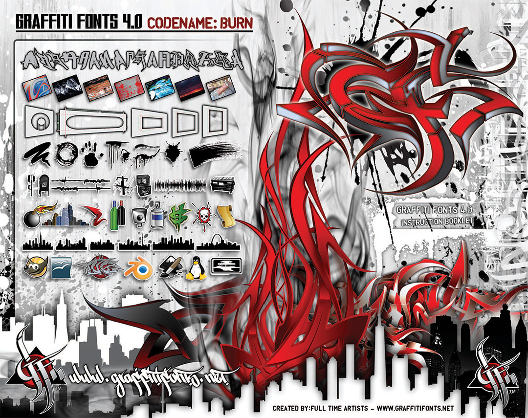 Graffiti Fonts 4.0 Instruction Booklet Cover