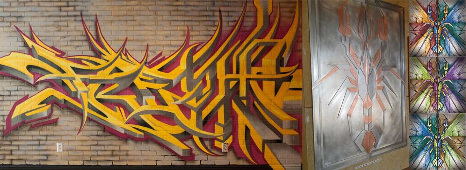 Murals, Paintings, Illustration & Metal Artwork for Crawdaddy Restaurant