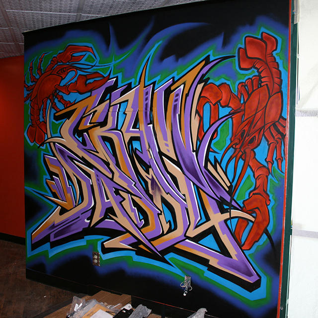 Crawdaddy Graffiti by Raseone