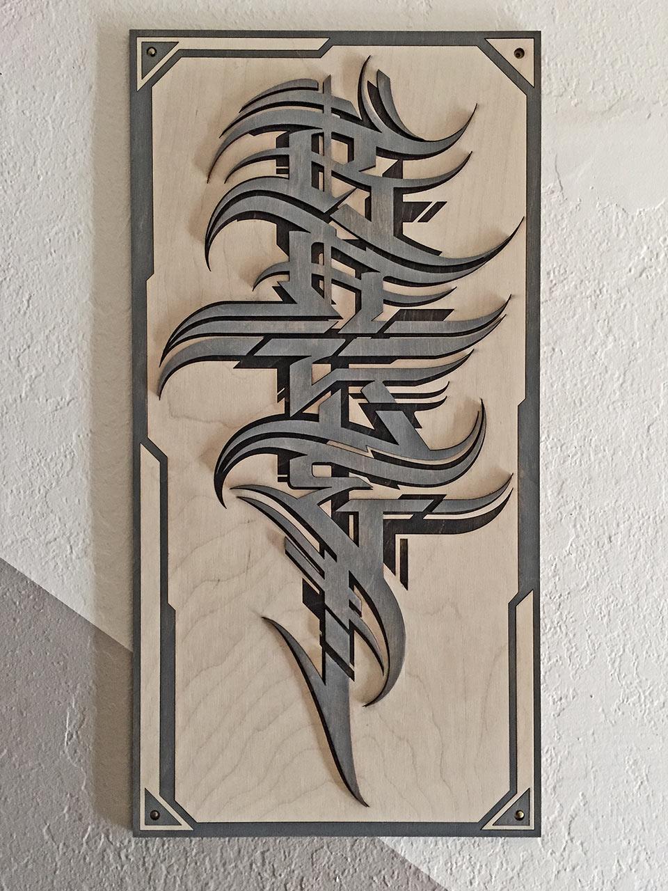 Raseone woodcut wildstyle
